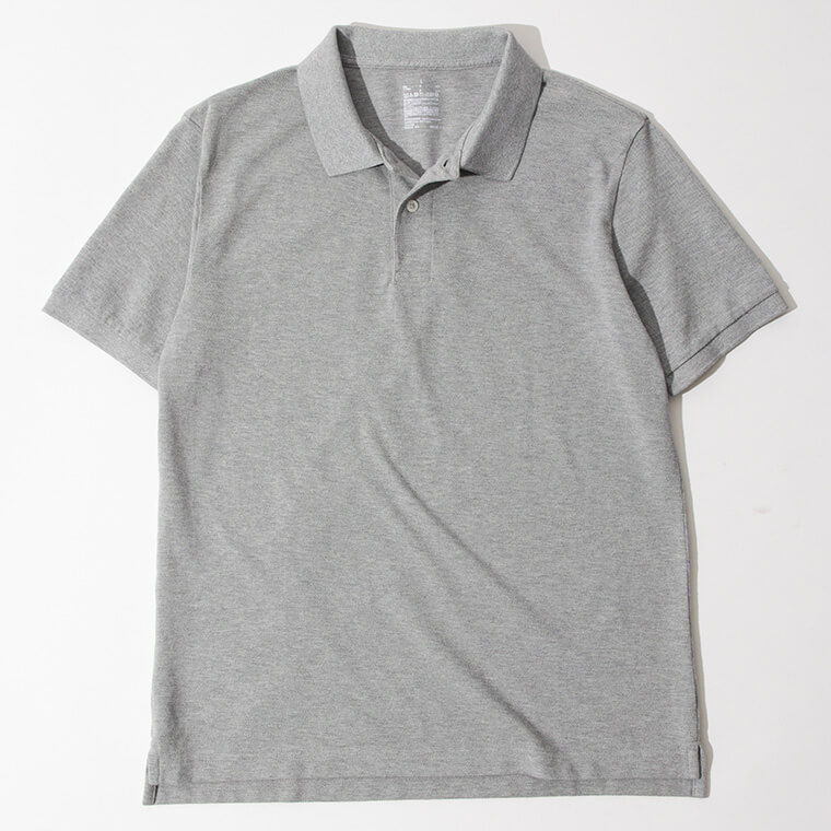 無印良品/新疆綿 鹿の子編み半袖ポロシャツの画像