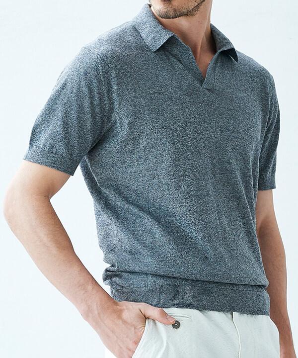 G-STAGE(ジー・ステージ)|コットンリネン台衿ニット半袖シャツのコーディネート画像
