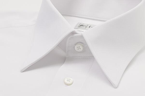 ノンアイロンシャツの検証画像-襟元