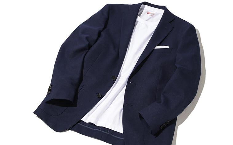 ジャケットにはえるTシャツ