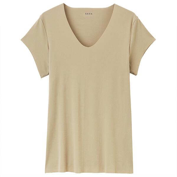 SEEK|強撚カットオフ UネックTシャツの画像